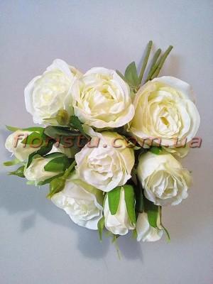 Букет роз гэлакси премиум класса Белый 46 см