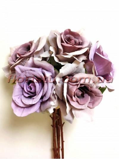 Букет-дублер Винтаж из роз сиреневых 30 см
