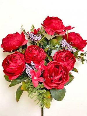 Букет роз премиум класса с добавками Красный 50 см
