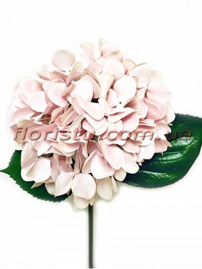 Гортензия искуственная премиум Винтаж розовая пудра гол. 16 см 55 см