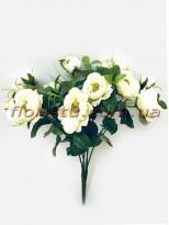 Букет садовых роз кремовых 33 см
