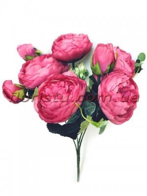 Букет роз искусственных Rich Bubbles Малиновый 26 см