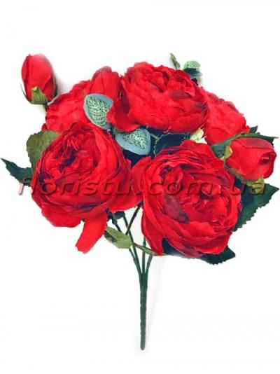 Букет роз искусственных Rich Bubbles Красный 26 см