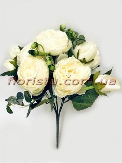 Букет роз искусственных Rich Bubbles Кремовый 26 см