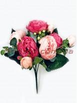 Букет роз искусственных Rich Bubbles Малиново-розовый 26 см
