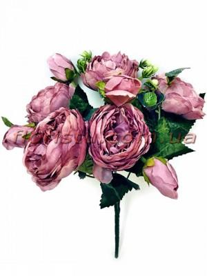 Букет роз искусственных Rich Bubbles Фиолетово-сиреневый 26 см