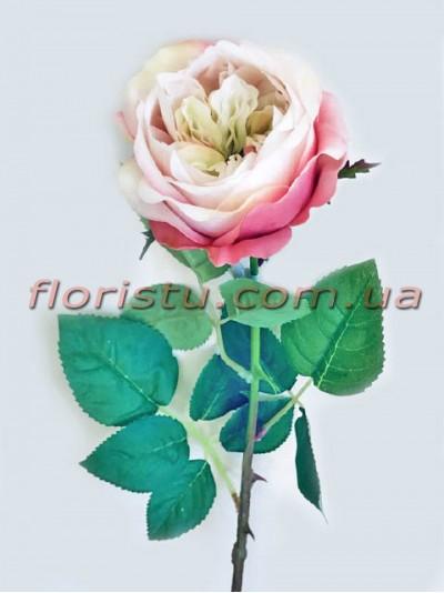 Роза Fangfei премиум класса Нежно-розовая 62 см