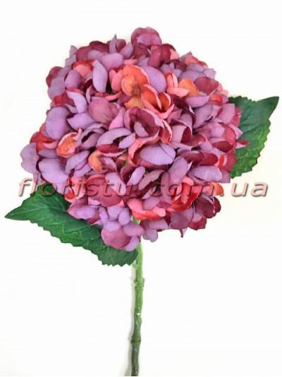 Гортензия искуственная премиум Винтаж NEW фиолет гол. 16 см 55 см