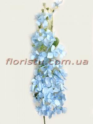 Ветка цветущая искусственная Нежно-голубая 105 см