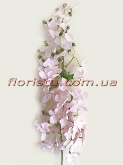 Ветка цветущая искусственная Нежно-розовая 105 см