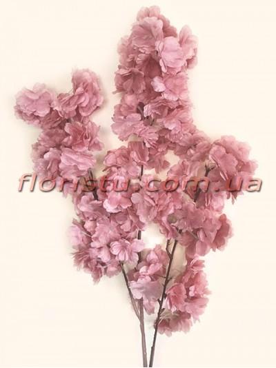 Сакура искусственная ветка свадебная Пепельно-розовая 105 см