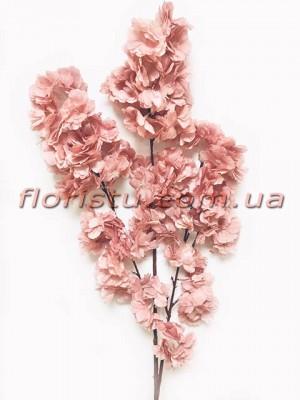 Сакура искусственная ветка свадебная Пудрово-розовая 105 см