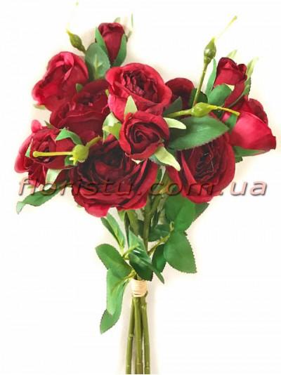 Букет роз гэлакси премиум класса Бордо 46 см