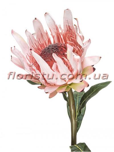 Протея искусственная премиум Розовая гол.15 см 100 см