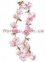 Цветочная искусственная лиана Розовая 1,70 м