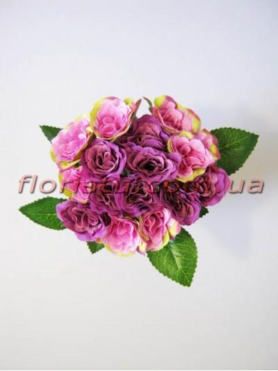 Букет роз Прованс фиолетовых 15 голов 4-5 см