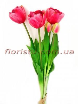 Букет тюльпанов латексных Премиум люкс Розовый 3 шт. 40 см