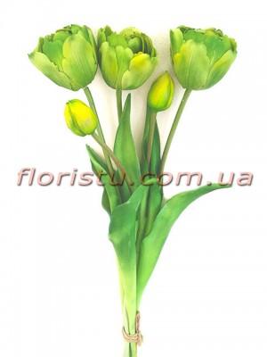 Букет тюльпанов латексных Премиум люкс Зеленый 3 шт. 40 см
