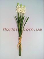 Букет искусственных гиацинтов белых 3 шт. 32 см