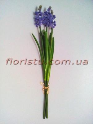 Букет искусственных гиацинтов фиолетовых 3 шт. 32 см