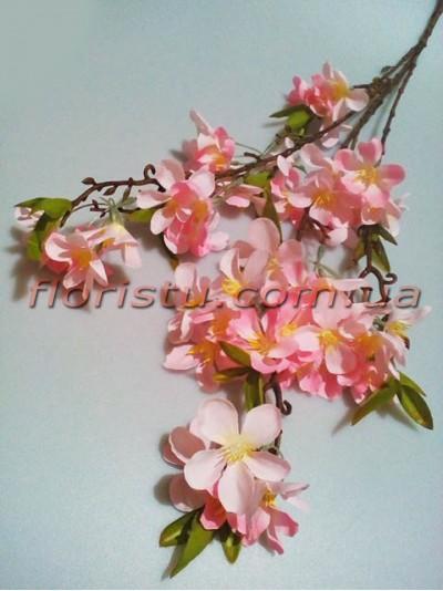 Цветущая весенняя ветка искусственная Розовая 90 см