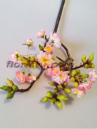 Ветка весенней сакуры премиум класса Нежно-розовая 60 см