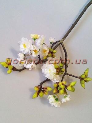 Ветка весенней сакуры премиум класса Белая 60 см