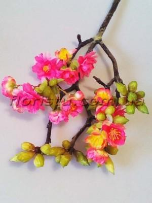 Ветка весенней сакуры премиум класса Розовая 60 см