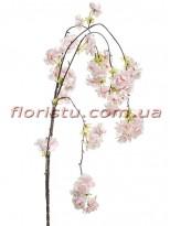 Сакура искусственная ампельная ветка Пудрово-розовая 95 см