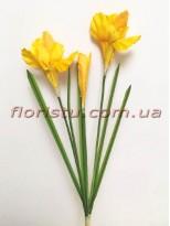 Ирисы искусственные желтые 60 см