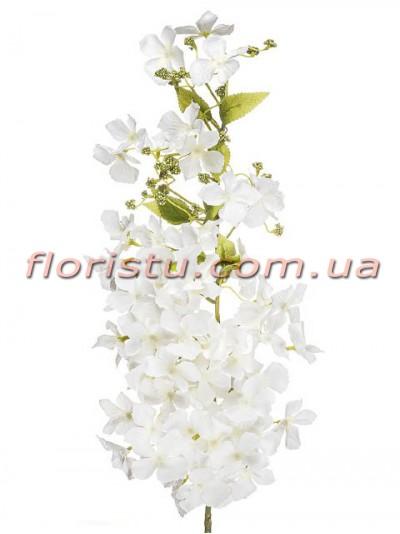 Ветка цветущая искусственная Белая 105 см