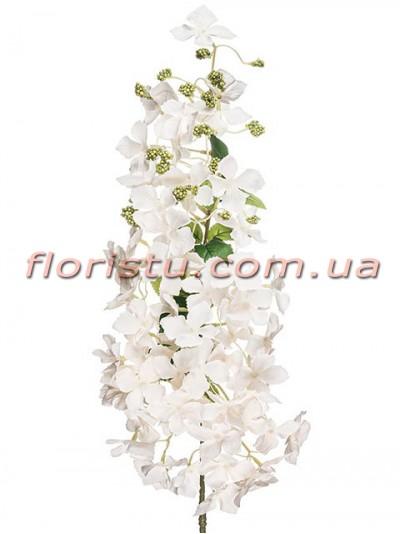 Ветка цветущая искусственная Нежно-кремовая 105 см
