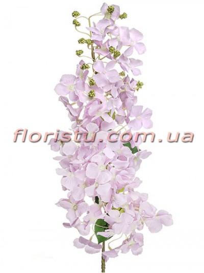 Ветка цветущая искусственная Нежно-сиреневая 105 см