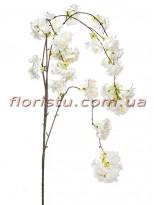 Сакура искусственная ампельная ветка Белая 95 см