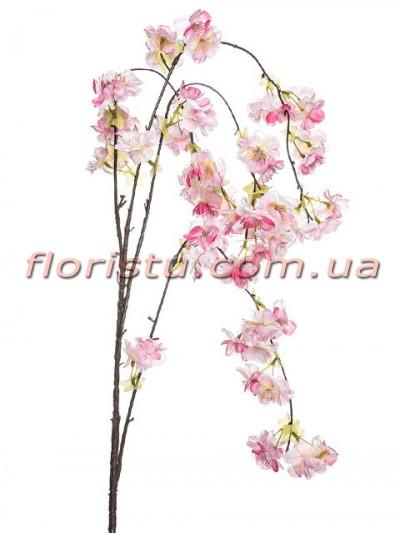 Сакура искусственная ампельная ветка Розовая 95 см