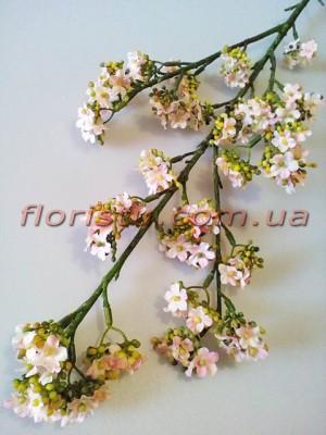Хамелациум искусственная ветка Светло-розовая 80 см