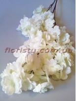 Сакура искусственная ветка свадебная Белая 105 см