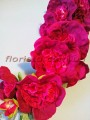 Мальва искусственная премиум Пурпурно-малиновая 120 см гол.10 см