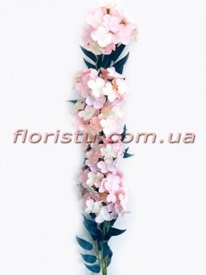 Бульдонеж искусственная ампельная ветка Нежно-розовый 100 см