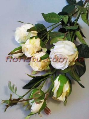 Розы Эден белые искусственная ветка 1 м