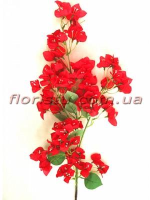 Бугенвиллия искусственная ветка Красная 120 см
