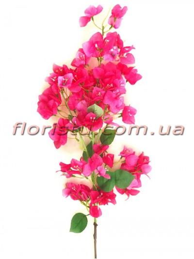 Бугенвиллия искусственная ветка Сочно-розовая 120 см