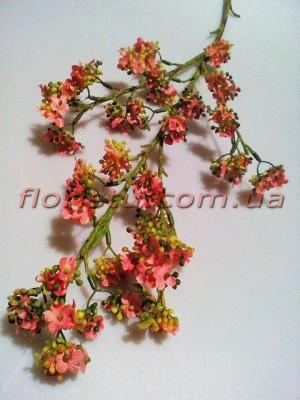 Хамелациум искусственная ветка Розовая 80 см