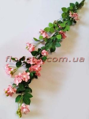 Ветка шиповника премиум класса Розовая 150 см