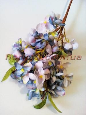 Сакура Винтаж ветка премиум класса Сине-голубая 65 см