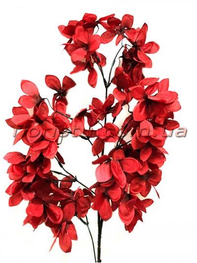 Декоративная ветка с цветами Бордо 100 см