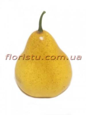 Груша искусственная Желтая 10 см