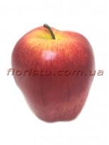 Яблоко искусственное бордово-красное 9 см