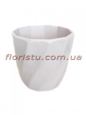 Кашпо пластиковое мини Белое 6,5 см