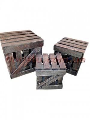 Ящики деревянные с крышкой для декора набор 3 шт.